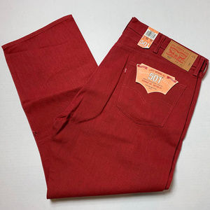 New Men's 501 Straight Leg Levis Red  size 44/30